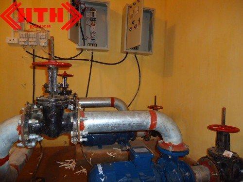 Hệ thống bơm PCCC đã được lắp đặt hoàn chỉnh
