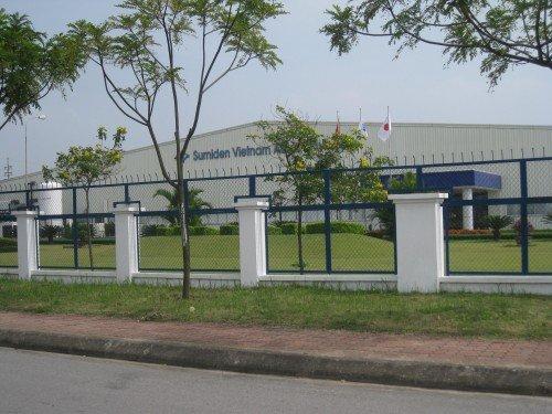 Cổng vào nhà máy Sumiden Việt Nam